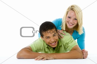 Portrait Of Teenage Couple