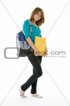 Portrait Of Teenage Schoolgirl