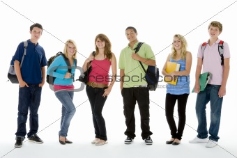 Group Shot Of Teenage School Kids
