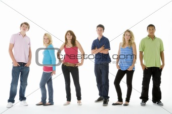 Group Shot Of Teenagers