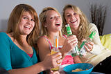 Teenage Girls Enjoying Drinks