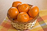 Ripe fresh tangerine