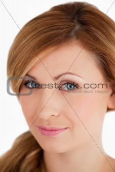 Young and attractive woman looking at the camera