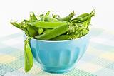 Green sweet organic peas