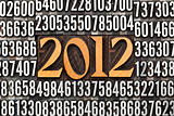 year 2012 in letterpress type