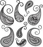 abstract paisley henna