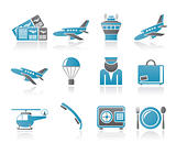 Airport and travel icons