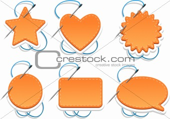 Various orange web elements