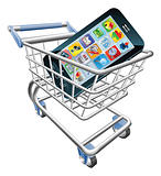 Smart phone shopping cart concept