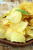 pile of ruffled potato chips