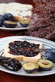 Plum jam sandwich