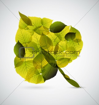 Fresh Leaf made from smaller leafs
