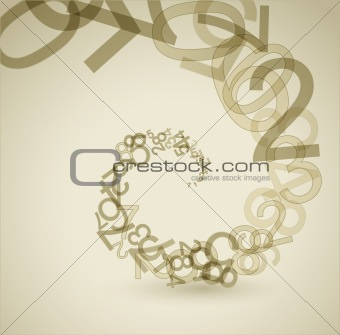 Abstract retro background with numbers
