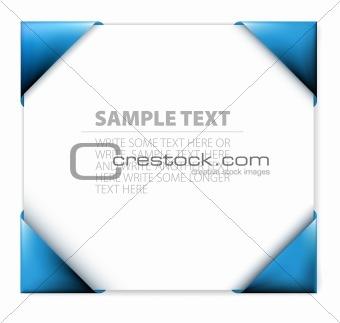 Blue  paper holder
