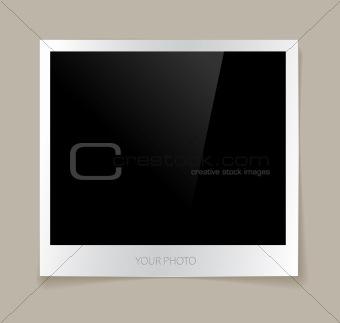 Empty photo vector illustration