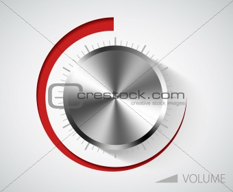 Chrome volume knob