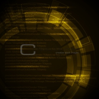 Abstract dark yellow technical background