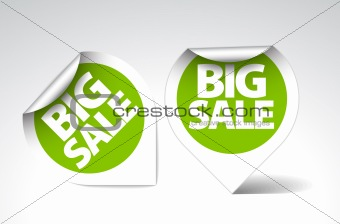 Round stickers for big sale