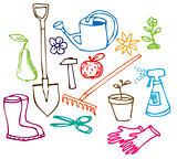 Garden doodle illustrations