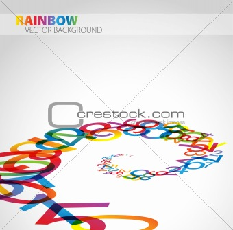 Abstract background with numbers