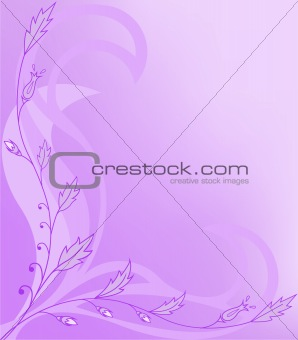 asymmetrical floral background