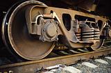 Old rusty train wheels