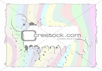 Abstract rainbow grunge frame