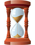 vector illustration of vintage hourglass