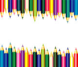 vector background of colorful pencils
