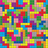 vector background of colorful puzzle pieces