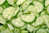 closeup sliced cucumber background
