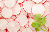 Fresh sliced radish