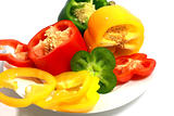 sweet cut peppers isolated