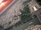 View on Paris from the Eiffel Tower.