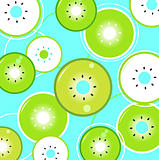 Tropical summer Kiwi background or pattern, blue & green
