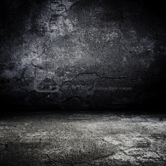 image 4014073: old grunge scary room with concrete texture from, Modern powerpoint