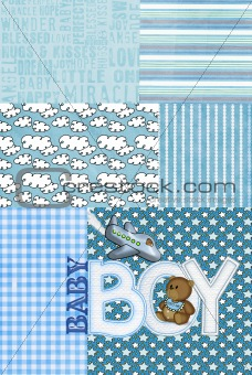 baby boy patchwork