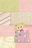 baby girl pink patchwork