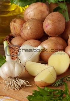 Baby potatoes.