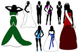 Illustration of women silhouette