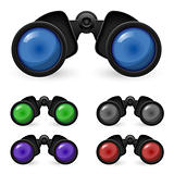 Set of realistic binoculars