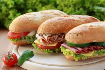 Three Sandwiches
