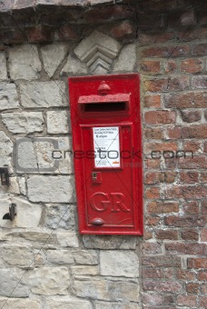 A Red British Post Box