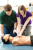 Teen Girl Practices CPR