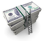 ladder and money