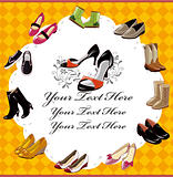 fashion  shoe card