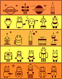 set of robots in cosmos