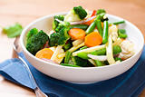 Stir fried vegetables on a plate