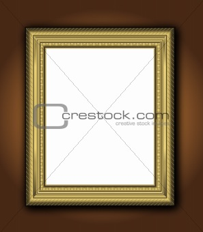 Frame old gold Baroque vintage picture classic