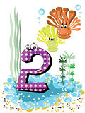 Sea animals and numbers series for kids 2 corals